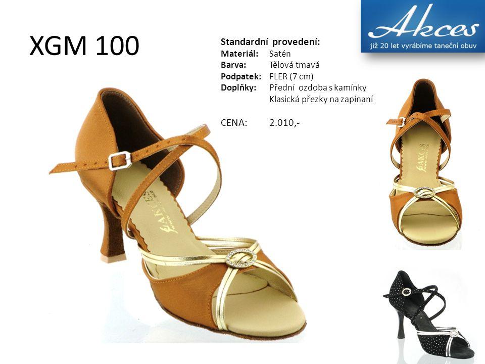 XGM 100 Standardní provedení: Materiál:Satén Barva:Tělová tmavá Podpatek:FLER (7 cm) Doplňky:Přední ozdoba s kamínky Klasická přezky na zapínaní CENA: