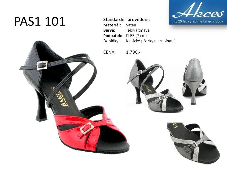 PAS1 101 Standardní provedení: Materiál:Satén Barva:Tělová tmavá Podpatek:FLER (7 cm) Doplňky:Klasické přezky na zapínaní CENA:1.790,-