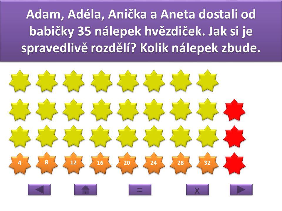 3 3 6 6 9 9 12 15 18 Dlouhý, Široký a Bystrozraký sbírali barevné listy do pracovních činností. Než je vyrušil obr nasbírali jich 19. Kolik vyšlo na k