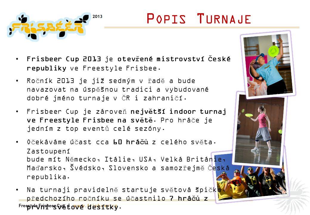 P OPIS T URNAJE •Frisbeer Cup 2013 je otevřené mistrovství České republiky ve Freestyle Frisbee.