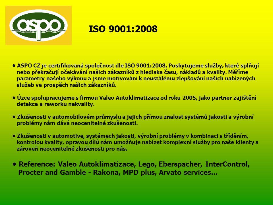 ISO 9001:2008 • ASPO CZ je certifikovaná společnost dle ISO 9001:2008.