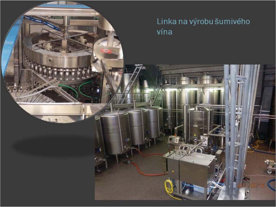 Linka na výrobu šumivého vína