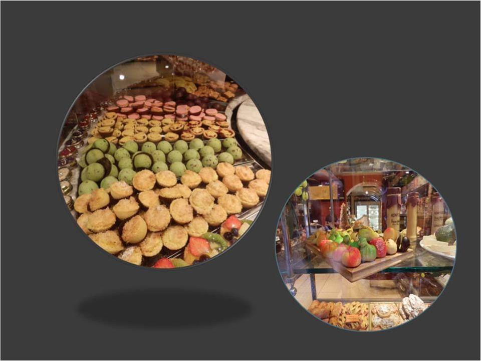 Výloha s Italskými cukrářskými výrobky