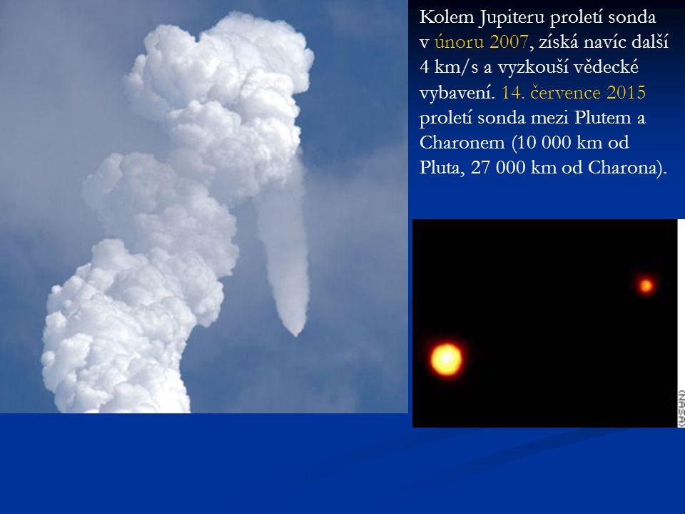 Kolem Jupiteru proletí sonda v únoru 2007, získá navíc další 4 km/s a vyzkouší vědecké vybavení.