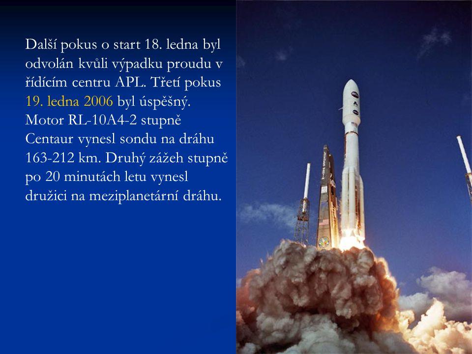 Na dráhu k Jupiteru sondu vynesl až 87 s zážeh motoru Star 48B 41 min po startu.