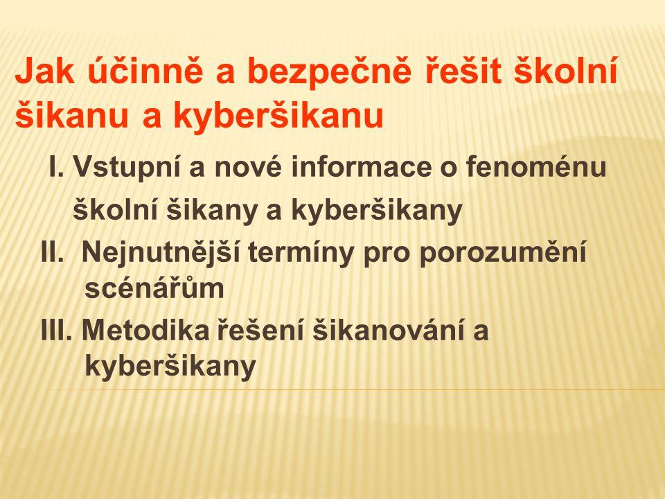 Jak účinně a bezpečně řešit školní šikanu a kyberšikanu I.