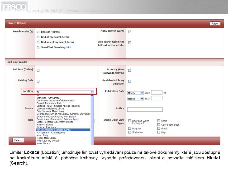 Kdykoliv v průběhu vyhledávání lze kliknout na odkaz Nápověda (Help), který v novém okně otevře přehledný a sofistikovaný systém nápovědy.