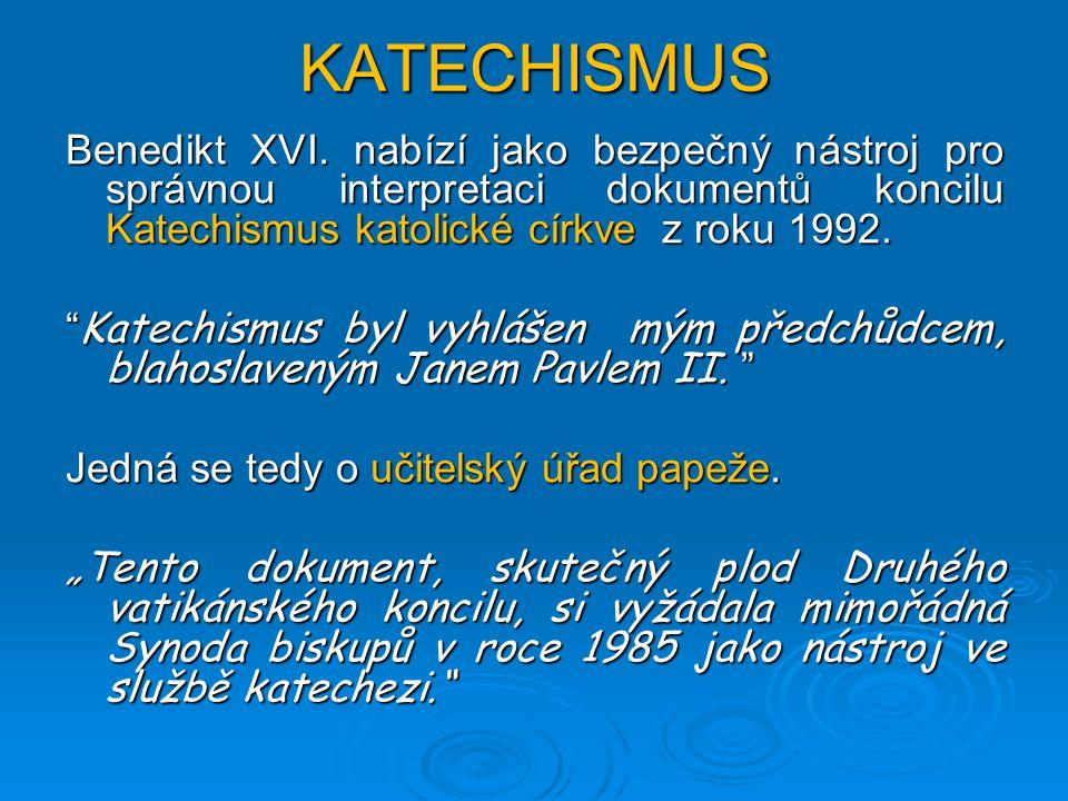 KATECHISMUS Benedikt XVI.