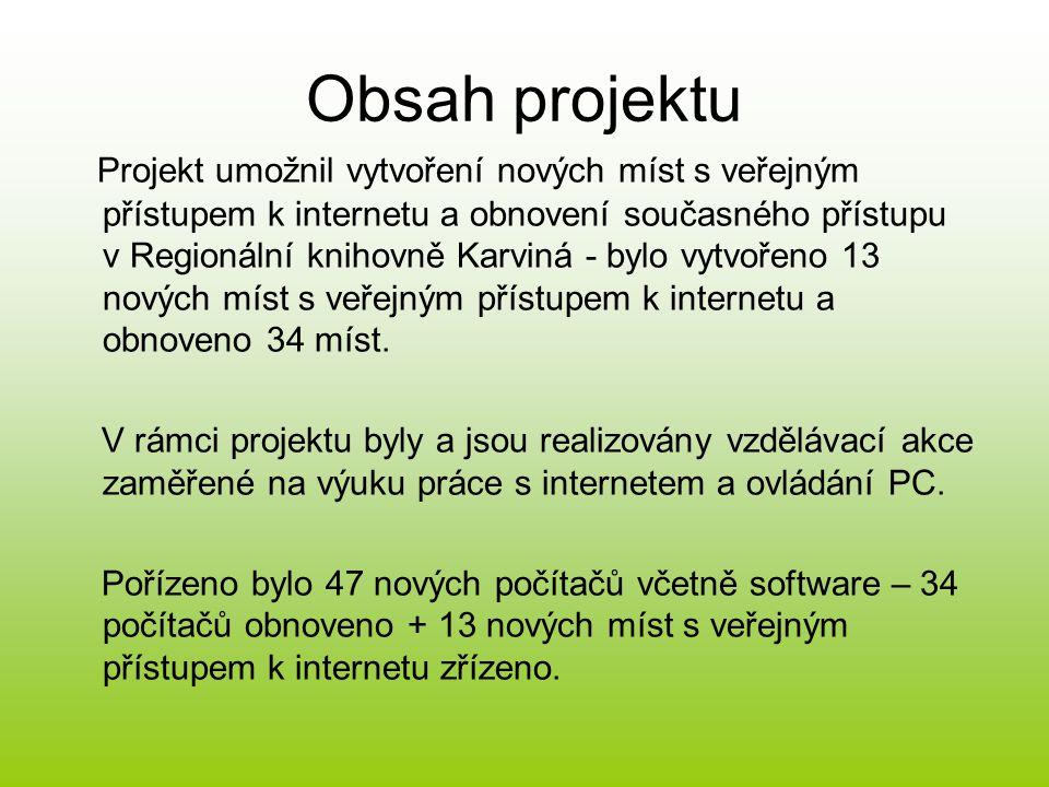 3 etapy projektu – Příprava projektu 1.Příprava projektu pracovníky knihovny a jeho podání v rámci 5.