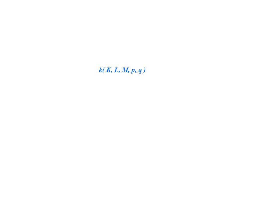k( K, L, M, p, q )