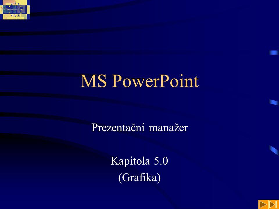 MS PowerPoint Prezentační manažer Kapitola 5.0 (Grafika)