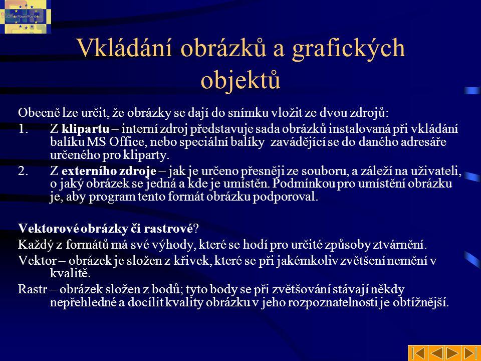 Vložení klipartu Jak vložit snímek ze sady Klipart.