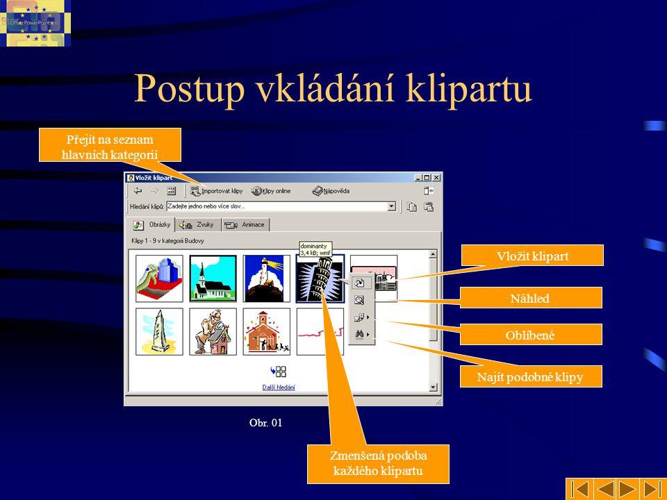 Vložení obrázku (externí) Nejčastěji se budete setkávat se způsobem vkládání obrázků z externího zdroje.