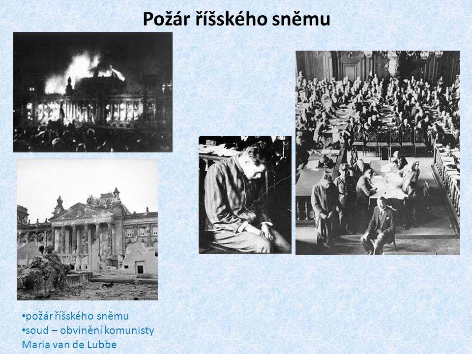 Požár říšského sněmu • požár říšského sněmu • soud – obvinění komunisty Maria van de Lubbe
