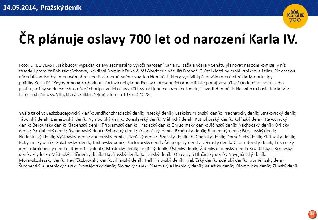 ČR plánuje oslavy 700 let od narození Karla IV.Foto: OTEC VLASTI.