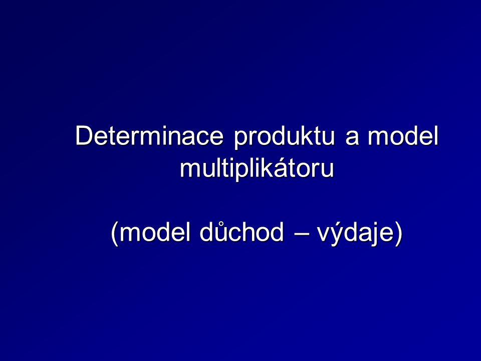 Determinace produktu a model multiplikátoru (model důchod – výdaje)
