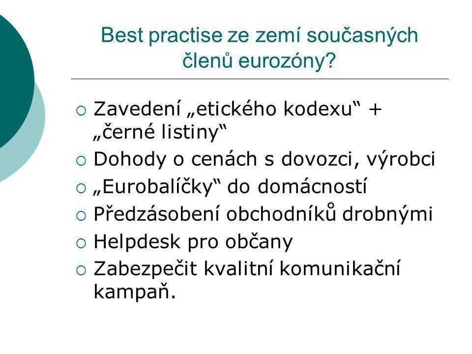 Best practise ze zemí současných členů eurozóny.