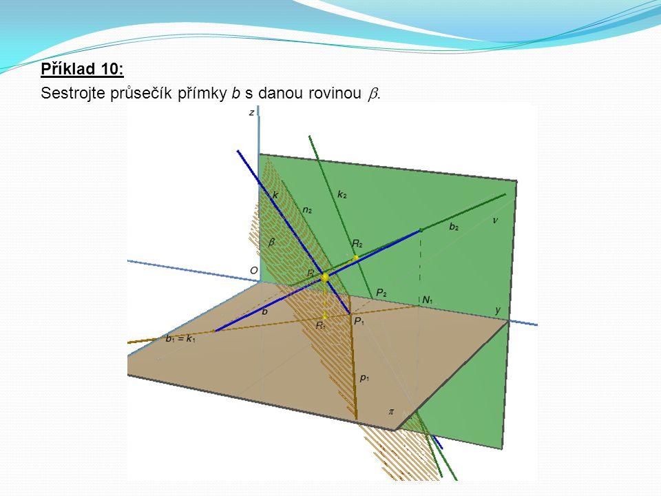 Definice 2: Perspektivní kolineace mezi rovinami ρ a ρ 1 je kolineace s vlastní osou o a s vlastním středem S.