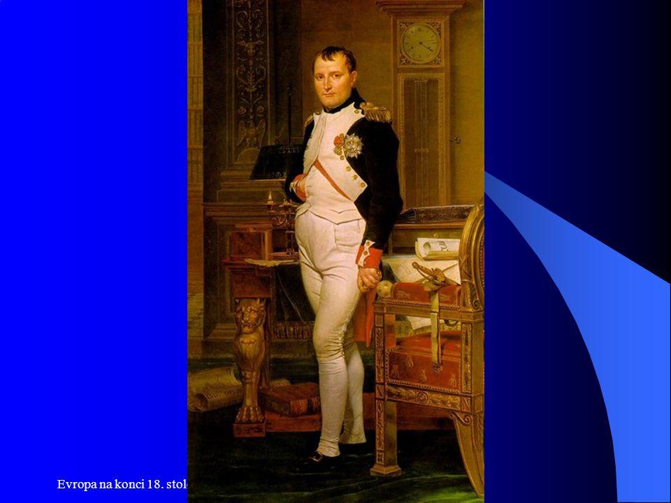 """Egyptské tažení 1798-99  Smyslem tažení bylo oslabení Británie v Indii  Úvaha o vpádu do Británie  Pochod severní Afrikou, taktika """"osvobozování nevyšla  Střetnutí s britským námořnictvem u Abúkíru 1798  Vítězství na pevnině v Egyptě i proti Turkům  Cílem je pochod do Indie  1799 krize ve Francii vede Napoleona k návratu bez vojska do Paříže"""