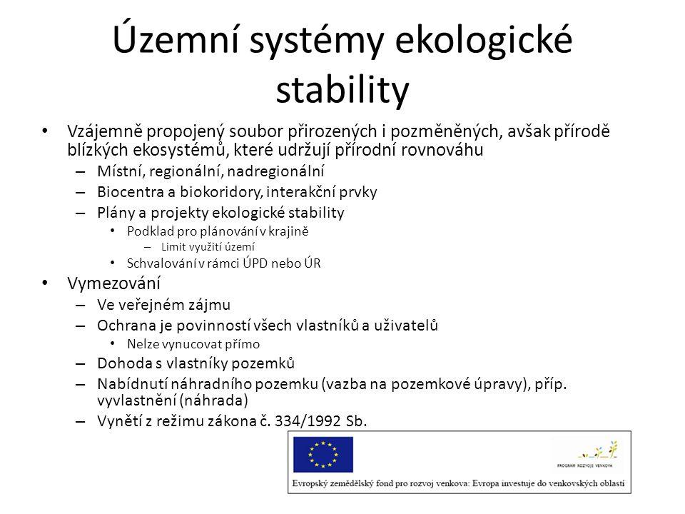 Územní systémy ekologické stability • Vzájemně propojený soubor přirozených i pozměněných, avšak přírodě blízkých ekosystémů, které udržují přírodní r