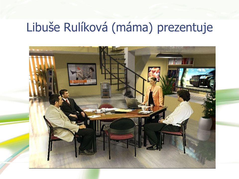 Libuše Rulíková (máma) prezentuje