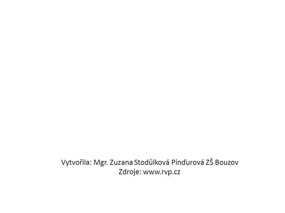Vytvořila: Mgr. Zuzana Stodůlková Pinďurová ZŠ Bouzov Zdroje: www.rvp.cz