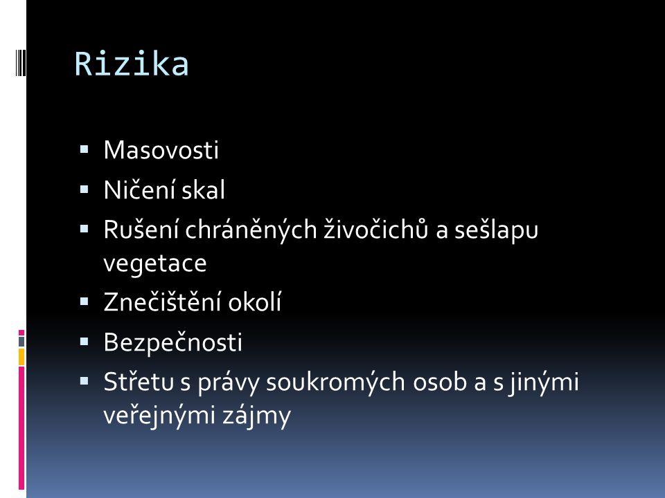 Horolezectví je možno provozovat pouze na místech a v obdobích vyhrazených Správou NP uvedených v příloze č.