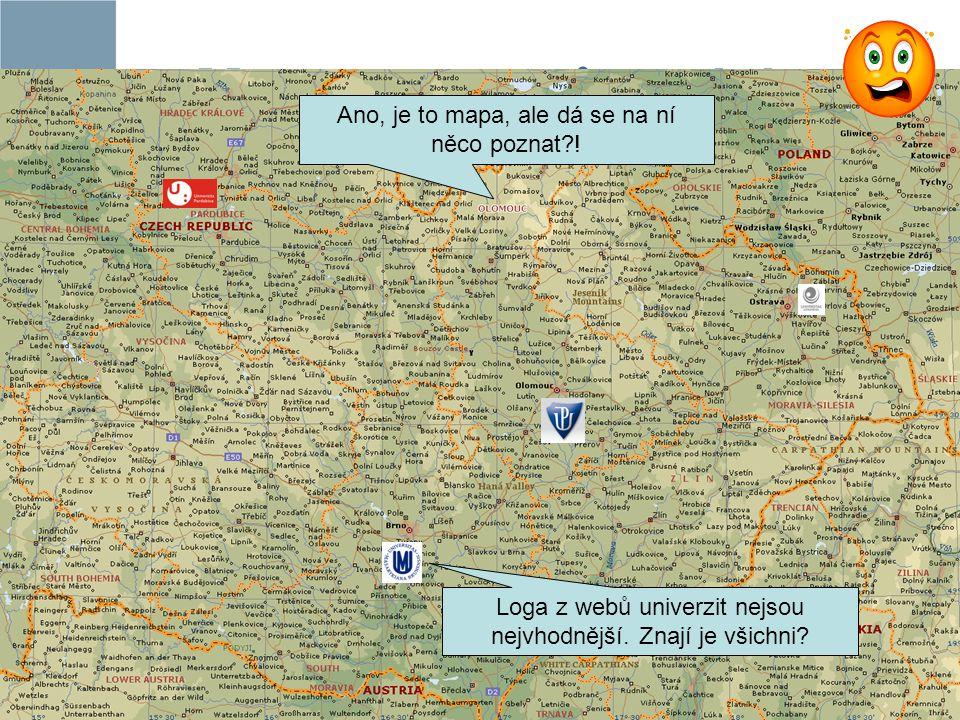 Mapa partnerů projektu Ano, je to mapa, ale dá se na ní něco poznat?! Loga z webů univerzit nejsou nejvhodnější. Znají je všichni?