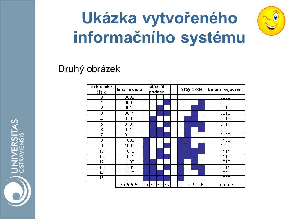 Ukázka vytvořeného informačního systému Druhý obrázek