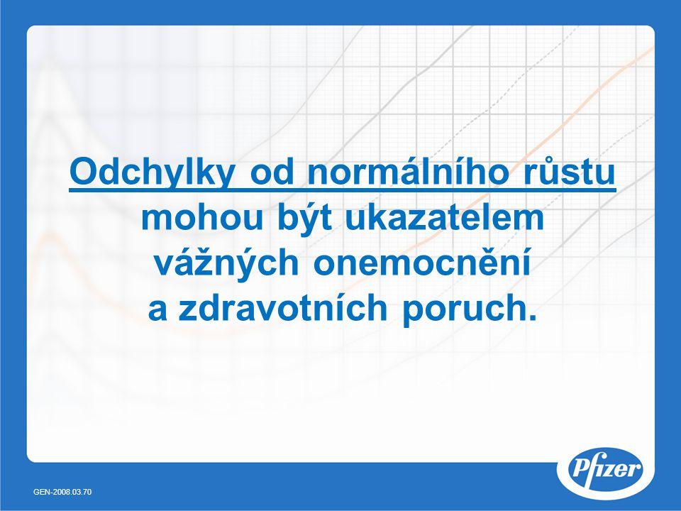 Odchylky od normálního růstu mohou být ukazatelem vážných onemocnění a zdravotních poruch. GEN-2008.03.70