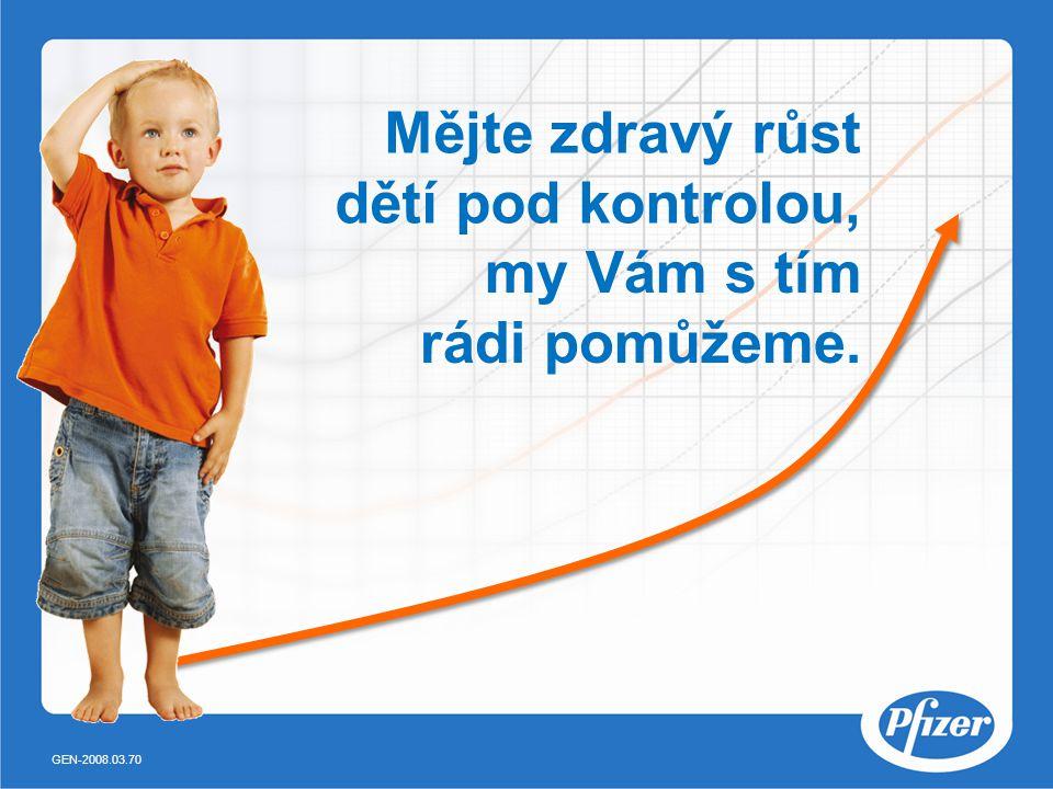 Mějte zdravý růst dětí pod kontrolou, my Vám s tím rádi pomůžeme. GEN-2008.03.70