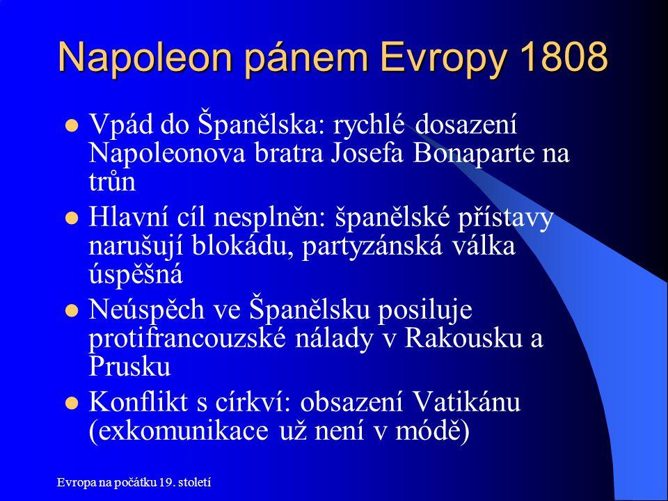 Evropa na počátku 19.