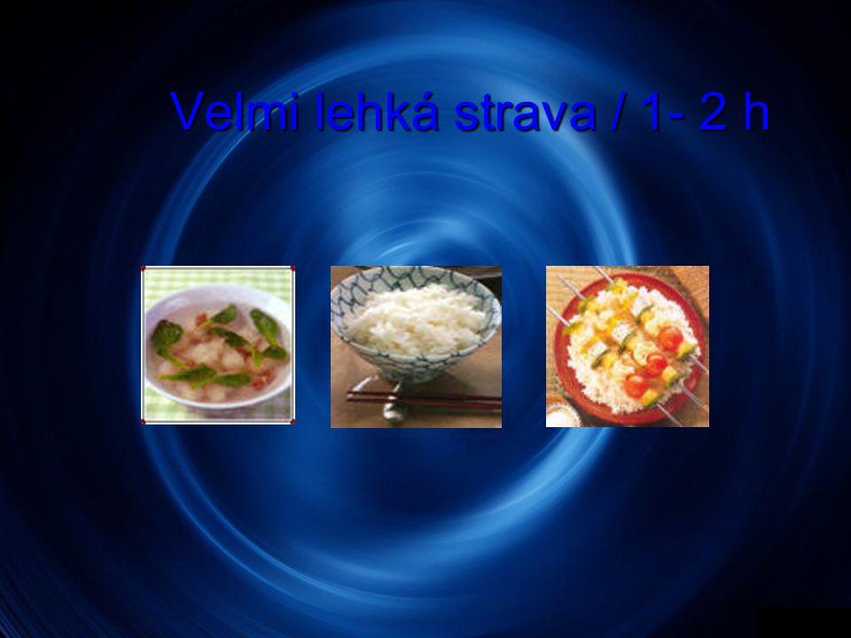 Velmi lehká strava / 1- 2 h