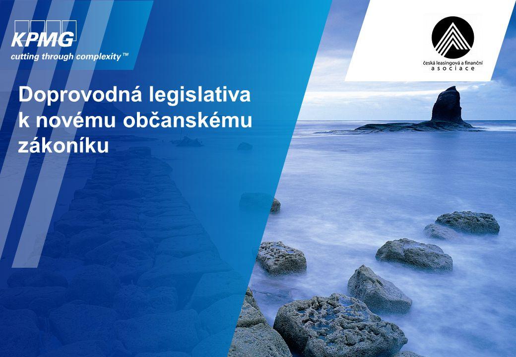 Doprovodná legislativa k novému občanskému zákoníku