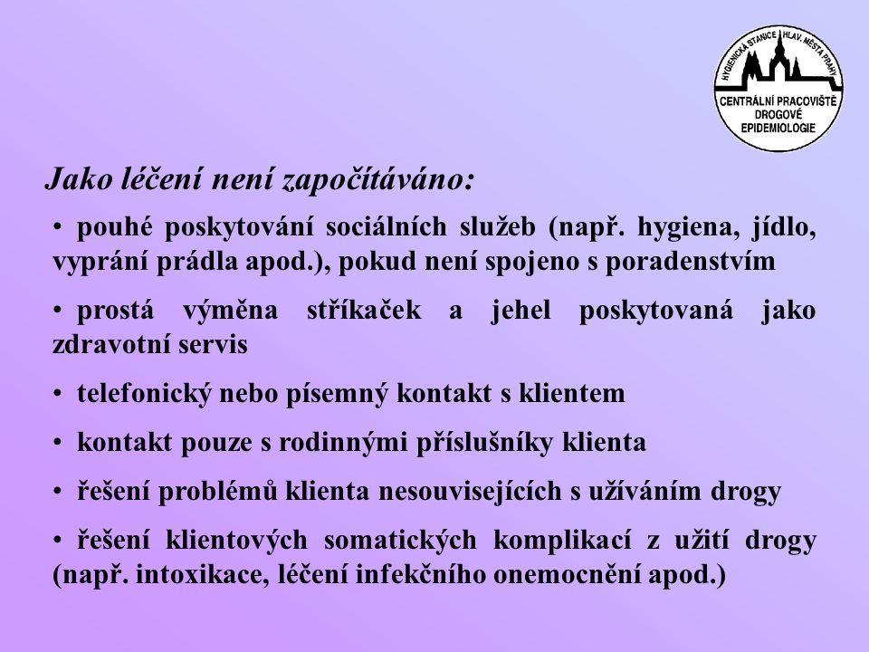 Jako léčení není započítáváno: • pouhé poskytování sociálních služeb (např.