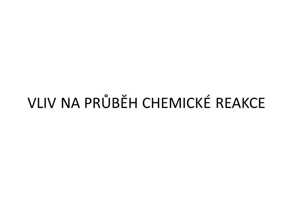 VLIV NA PRŮBĚH CHEMICKÉ REAKCE