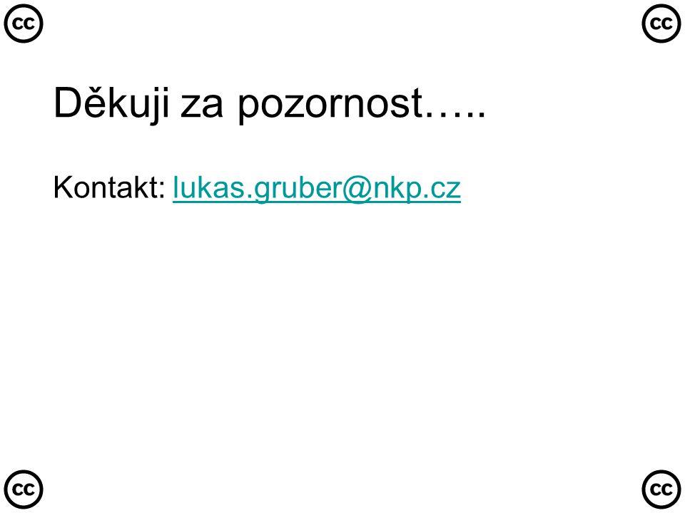 Děkuji za pozornost….. Kontakt: lukas.gruber@nkp.czlukas.gruber@nkp.cz