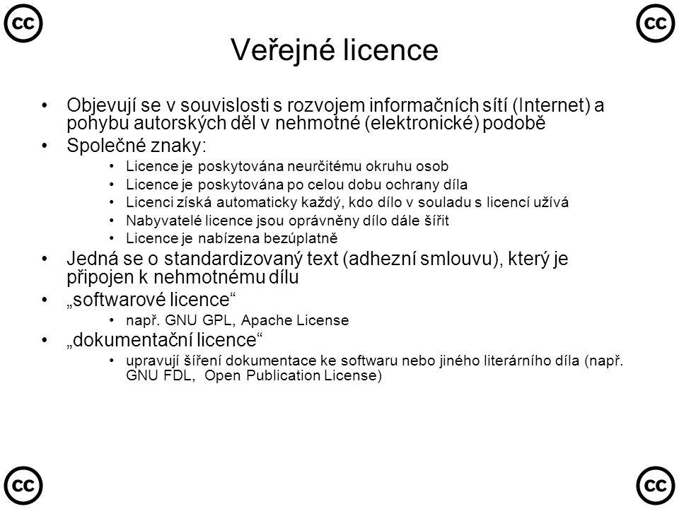 Tyto země vytvořily své národní verze CC licencí…