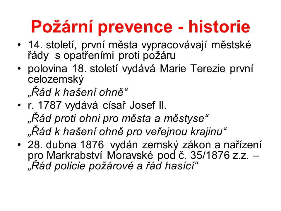 Požární prevence - historie •14.