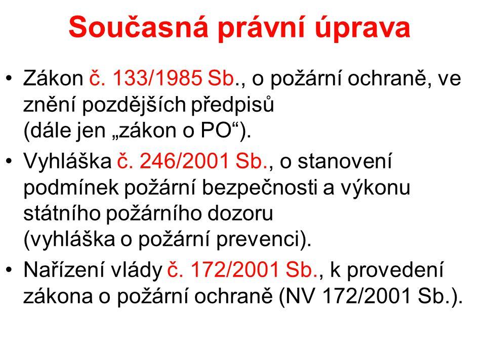 Současná právní úprava •Zákon č.