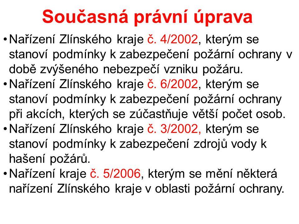 Současná právní úprava •Nařízení Zlínského kraje č.