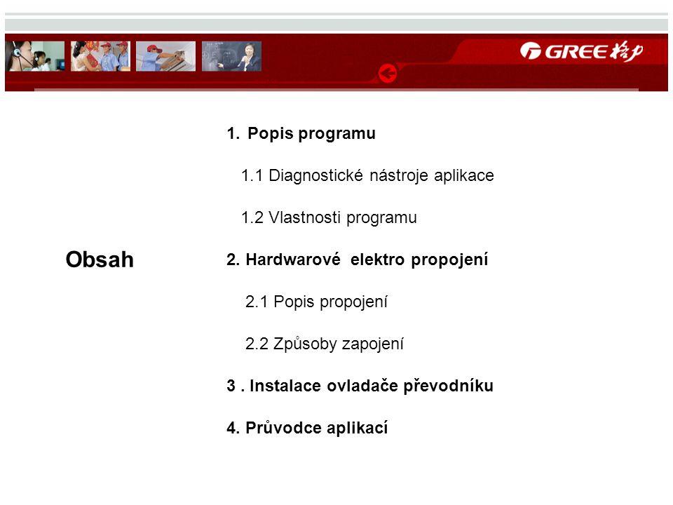 Obsah 1.Popis programu 1.1 Diagnostické nástroje aplikace 1.2 Vlastnosti programu 2.