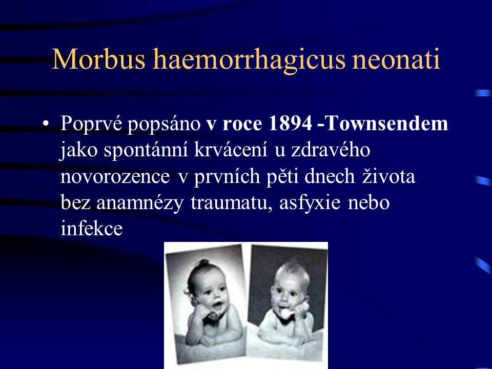 Projevy a prevence hemoragické nemoci novorozence Pavla Přibylová Neonatologické oddělení FN Brno Malá Morávka 27.