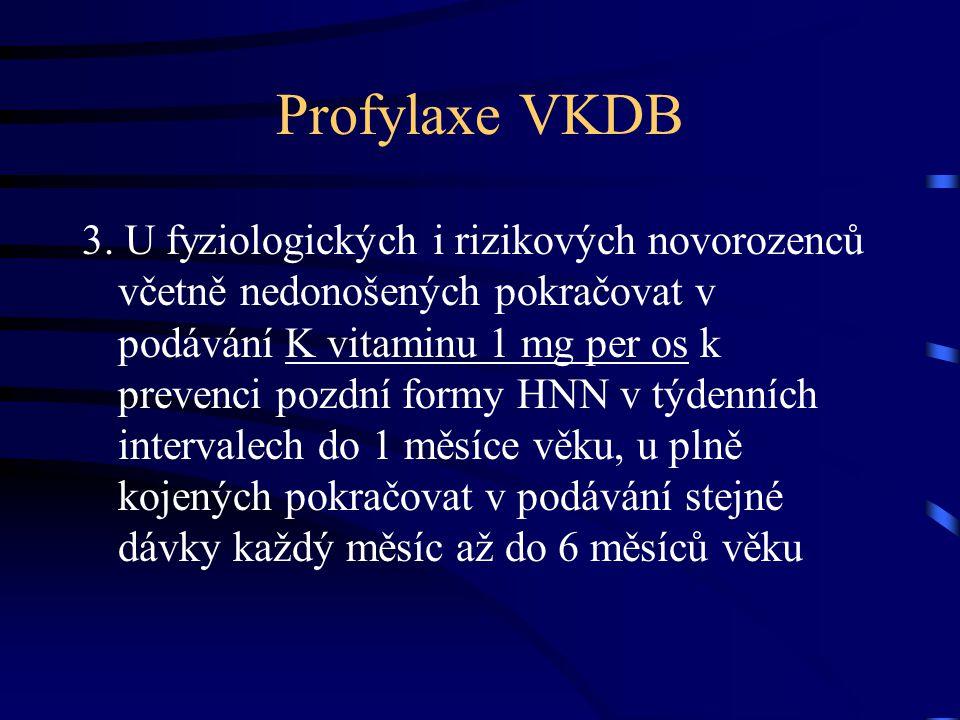 Profylaxe VKDB Doporučení výboru ČNS : 1.Podávat K vit.