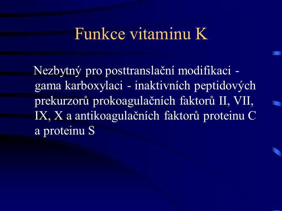 Morbus haemorrhagicus neonati VDKB - Vitamin K Deficiency Bleeding •Definice: krvácení v důsledku nedostatečné aktivity vitamin K - dependentních koagulačních faktorů (II, VII, IX, X ), které je korigované suplementací vit.