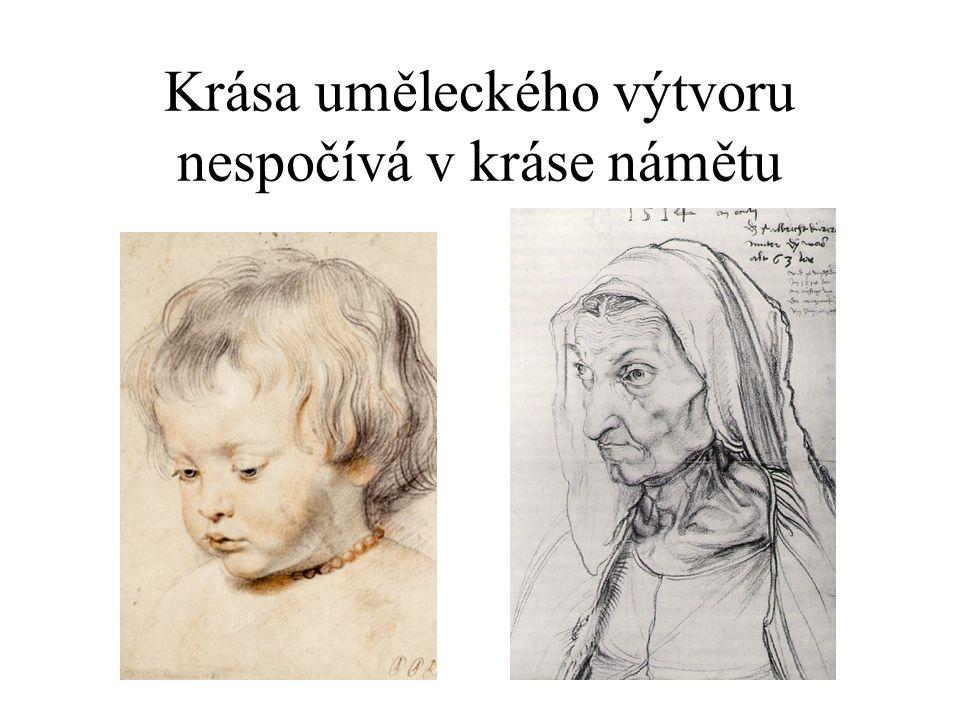 Stejný námět – lidé, blízcí, rodinní příslušníci •Jean Paul Rubens •syn Nicholas •pýcha a přání obdivovat jeho syna •Albrecht Dürer •portrét matky •pravdivá studie ženy ve stáří •vyvolává šok.