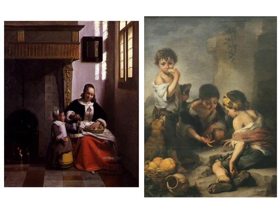 Krása uměleckého výtvoru Krása námětu •Bartolomé Estéban Murillo •Děti ulice •Pieter de Hooch •Interiér se ženou loupající jablko •Je dítě na tomto obraze opravdu krásné.