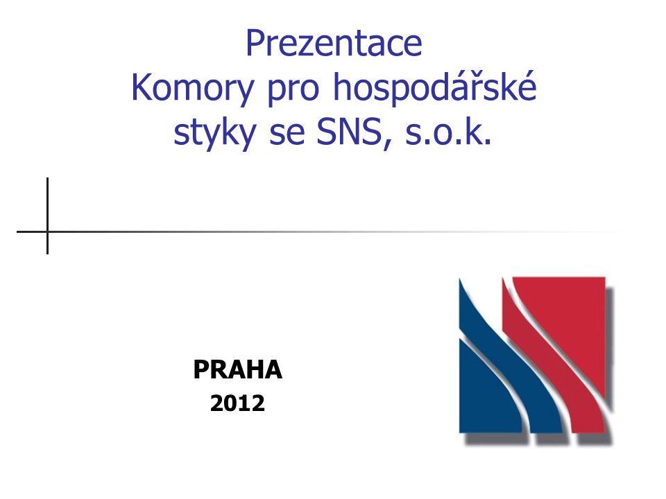 Prezentace Komory pro hospodářské styky se SNS, s.o.k. PRAHA 2012