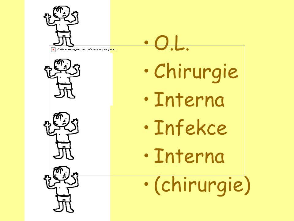 •O.L. •Chirurgie •Interna •Infekce •Interna •(chirurgie)