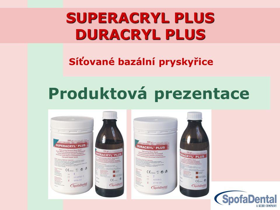 Síťované bazální pryskyřice SUPERACRYL PLUS DURACRYL PLUS Produktová prezentace